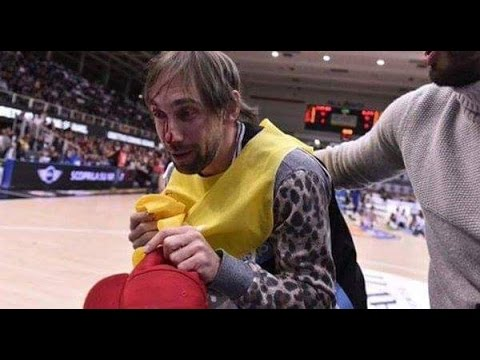 EPIC Dunk Contest FAIL! Breaks Photographers NOSE!