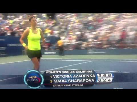 Victoria Azarenka vs Maria Sharapova Us Open 2012 Semi Finals Match Point