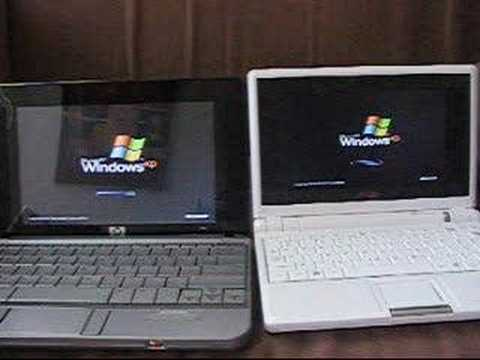 hp mini note and eee pc boot windows xp youtube
