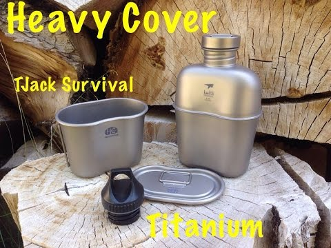 Ultimate Survival Water!  Titanium Heavy Cover Canteen Cup and lid review