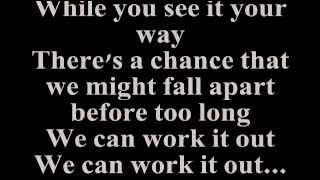 STEVIE WONDER - WE CAN WORK IT OUT (Lyrics)