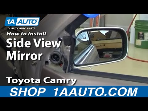 How To Install Replace Broken Side Rear View Mirror Toyota Camry 97-01 1AAuto.com