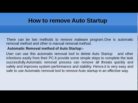 Remove Auto Startup-Easy guidelines to remove malwares