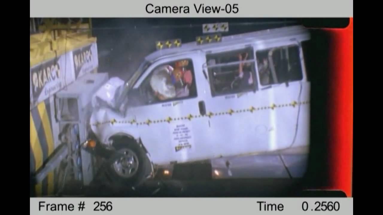 2008 chevrolet express 1500 gmc savana nhtsa frontal impact youtube