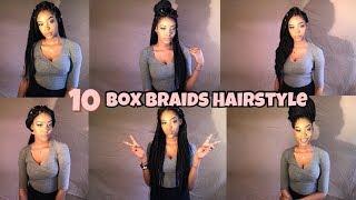 10 BOX BRAIDS HAIRSTYLES 2018   CHARMAINE MG