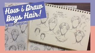 [Little tutorial] How I draw hair | Boys/Males edition