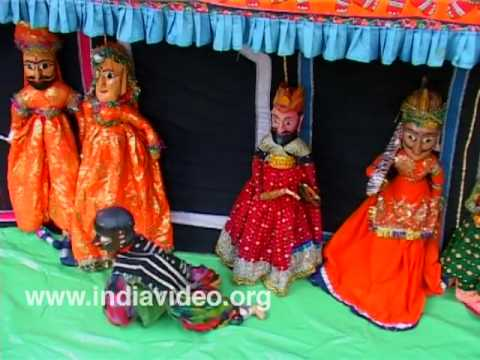 The puppets from Rajasthan do dance
