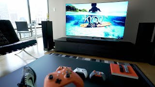 The Ultimate 4K TV SETUP - Tech Living Room Tour 2017