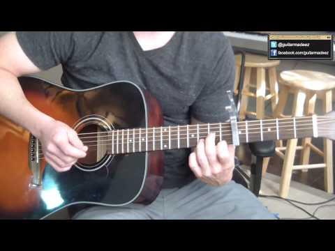 Music video Mumford and Sons - Hopeless Wanderer - Guitar Tutorial (ALL PARTS:INTRO, VERSE, CHORUS, OUTRO) - Music Video Muzikoo