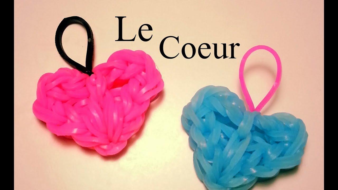 Comment faire un coeur avec des lastiques sans machine - Comment faire des bracelets en elastique ...