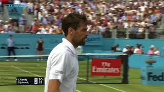 Djokovic defeats Chardy; Cilic Stops Kyrgios | Queen's 2018 Semi-Final Highlights