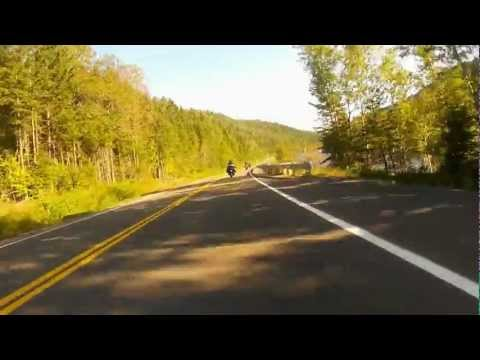 Riding Route 299 on the Gaspe Peninsula