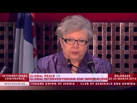 PROF. JELENA GUSKOVA (RUSSIA) - (Global Peace vs. Global Interventionism and Imperialism)