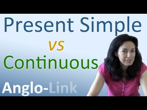 Present Simple vs Present Continuous - Learn English Tenses (Lesson 1) Music Videos