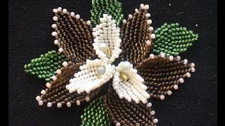The leaf of beads. Mosaic. English explanation.