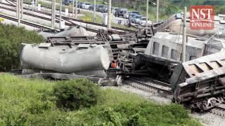 Cargo train derails in Batu Gajah, no fatalities reported
