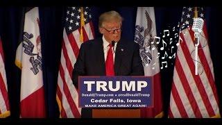 Donald Trump singing the Ed Sheeran