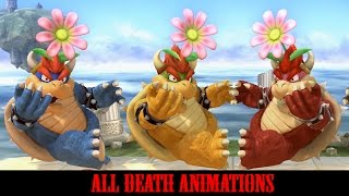 Super Smash Bros Wii U - All Characters Dying Animations (Death Animations)