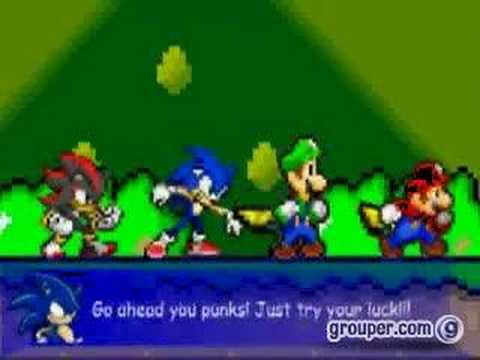 Sonic et Luigi Mario,sonic,luigi,shadow vs