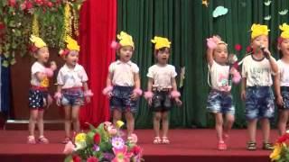 Vè chào hỏi của các bé lớp 3 tuổi A - trường mầm non Vinh Quang - Hoàng Su Phì