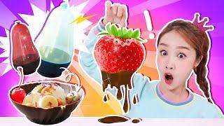 超大草莓火鍋❤巧克力氣球碗小製作遊戲 DIY-基尼