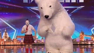 He Brings A Bear On Stage and Surprises Judges!!