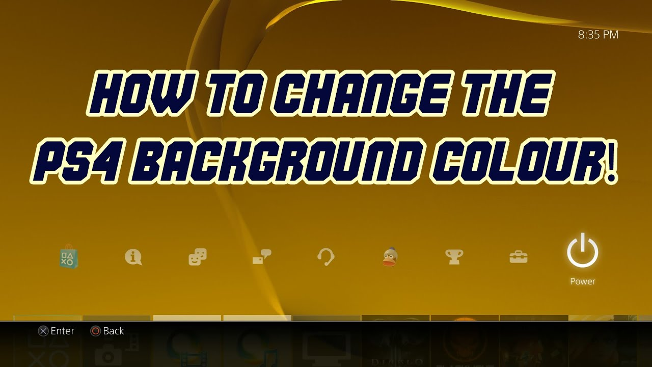 how to change your background on ps4