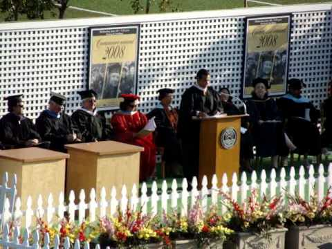 Mayor Antonio Villaraigosa speaking at Los Angeles Valley College Commencement 2008