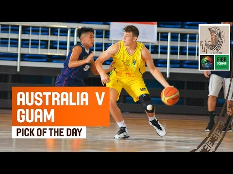 Watch Guam´s Number 9 Vernave Calinagan Gustilo with an unusual defensive play crawling though his opponent's legs in their game against Australia during the...