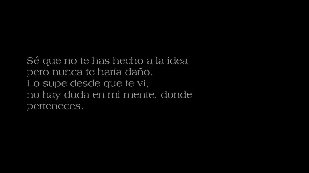 letra en espanol de la cancion my love:
