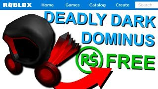 How To TRY ON The NEW Deadly Dark Dominus FOR FREE! (Roblox)