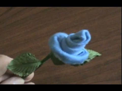 How To Make Baby Socks Washcloth Roses &amp  Silk Flower Pens  Instructions Tutorial