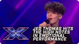 Jed Thomas hits the HIGH NOTES in emosh performance | X Factor: The Band | Arena Auditions