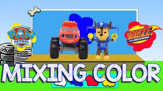 Learn with Paw Patrol Mixing Colors and Learn with Blaze and the Monster Machines Learning Video
