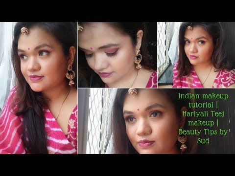 Indian Makeup Tutorial | Hariyali Teej Makeup | Beauty Tips by Sud