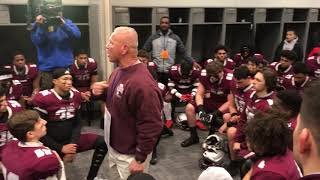St. Peter's Prep coach Rich Hansen fires up his team before Non-Public, Group 4 final