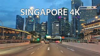 Singapore 4K - Skyscraper District - Sunset Drive
