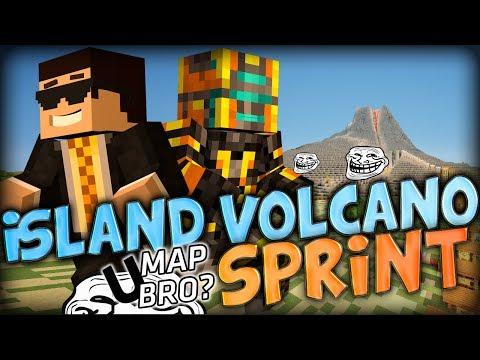 Minecraft Volcano Island Parkour