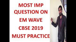 CBSE 2019 MOST IMP QUESTION EM WAVE