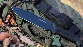 NEW! 7 Inch Bushcraft / Survival Knife - Schrade SCHF52 Frontier