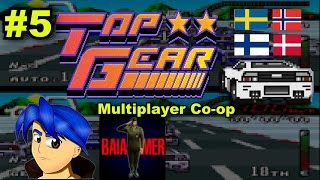 Zerando Top Gear (SNES) - Multiplayer Co-op - Parte 5 - Scandinavia (Pt-Br)