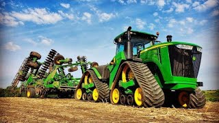 9520RX John Deere-2660VT Vertical Tillage Demo