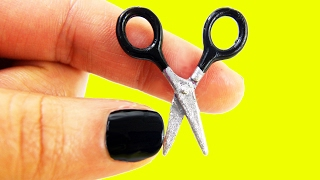 ✂ DIY MINIATURE DOLLHOUSE SCISSORS (really really  cuts) - simplekidscrafts