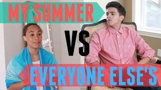 My Summer VS Everyone Else's (w/ MyLifeAsEva) | Brent Rivera