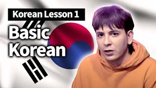 Dave's Korean Lesson 1 - BASIC KOREAN + Basic Vocab (?????1 - ?????+??)