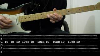 RHCP - She's only 18 (lesson w/ tabs)