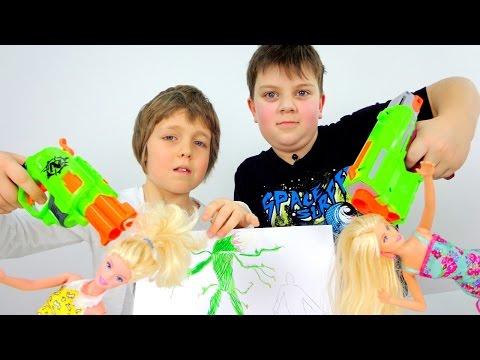ИгроБои Тимур и Адриан играют в куклы? Видео с игрушками