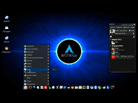 Arch - Linux - Xfce4 + AWN + Cairo-compmgr