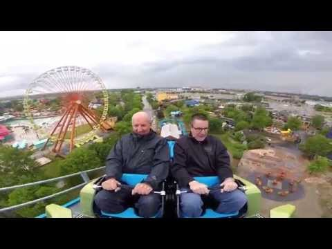 Mike and Dick Chance - First Riders on Lightning Run at Kentucky Kingdom