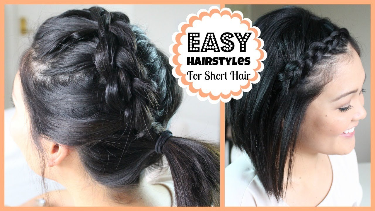 Hairstyles For Short Hair On Youtube : Easy Hairstyles for Short Hair - YouTube